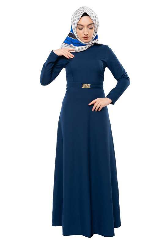 Zenane Tesettür Tokalı Elbise Modelleri