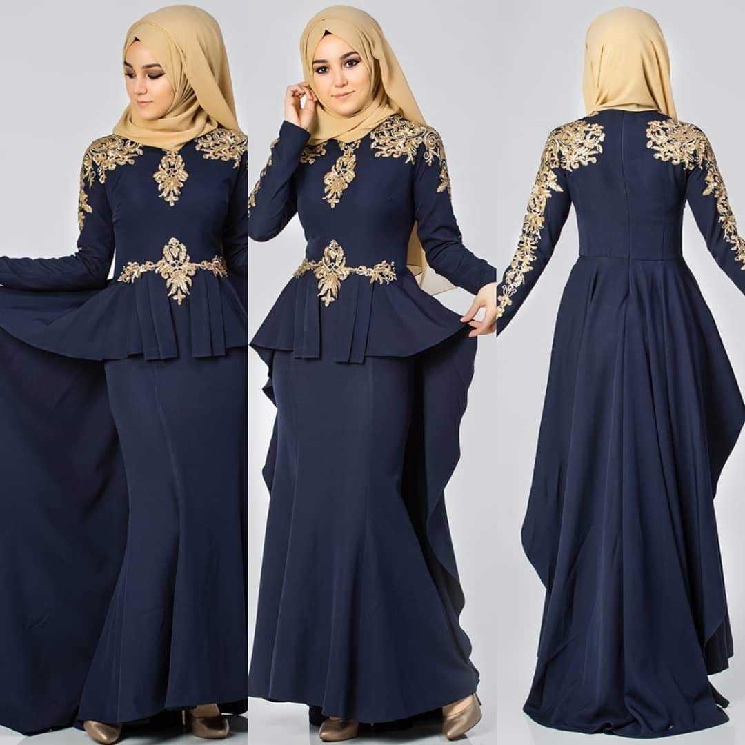 Elfida Tesettür Kuyruklu Abiye Elbise Modelleri