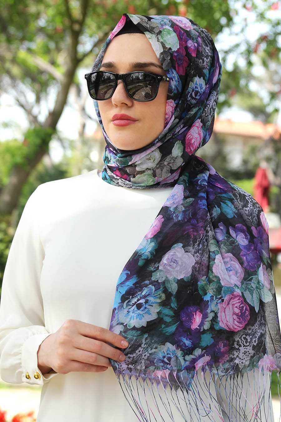 Feiza Collection En Güzel Çiçek Desenli Şal Modelleri