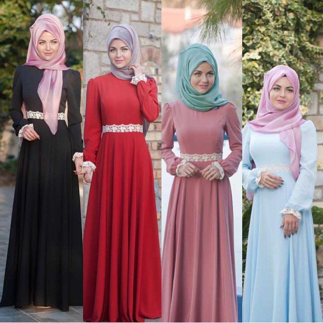 Tesettür İpek Elbise Modelleri