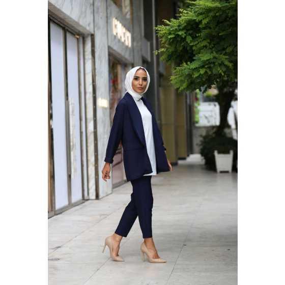 HF Moda Tesettür Ceket Pantolon Kombinleri
