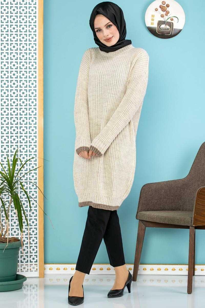 Moda Ebva Fitilli Tesettür Tunik Modelleri