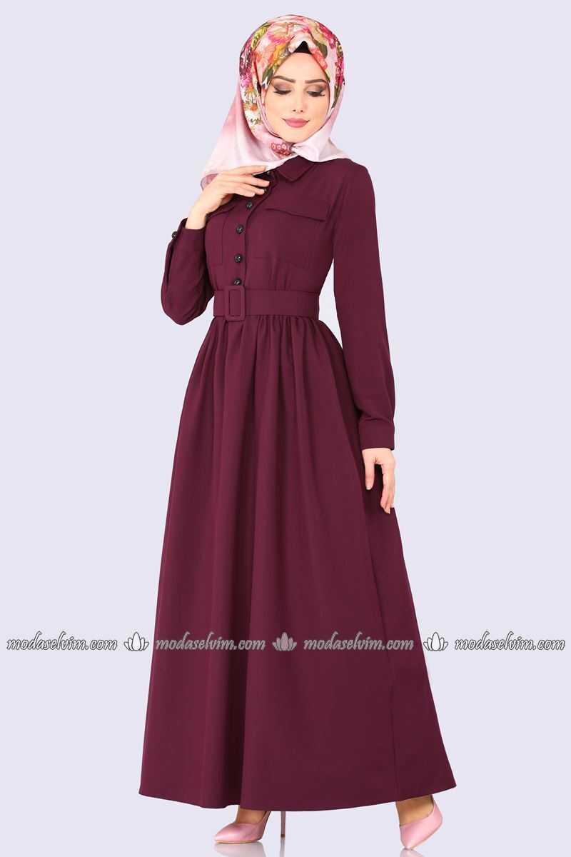 Moda Selvim Cepli Tesettür Elbise Modelleri