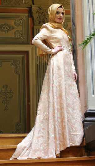 Modahira Tesettür Tafta Abiye Elbise Modelleri