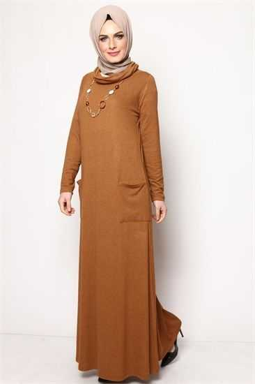 Modamerve Cepli Tesettür Elbise Modelleri