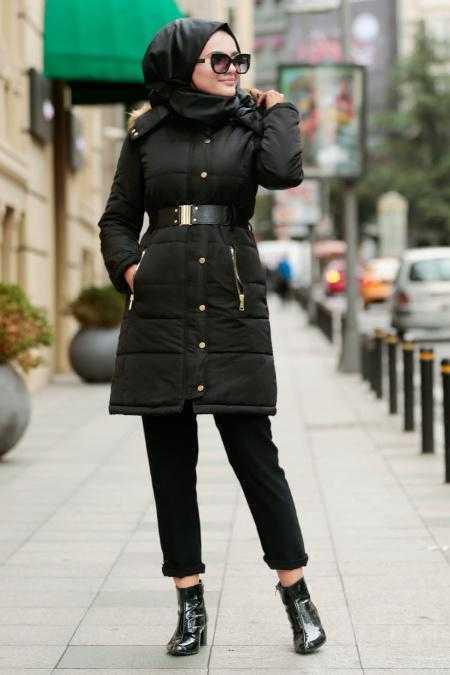 Nayla Collection Tesettür Spor Siyah Mont Modelleri