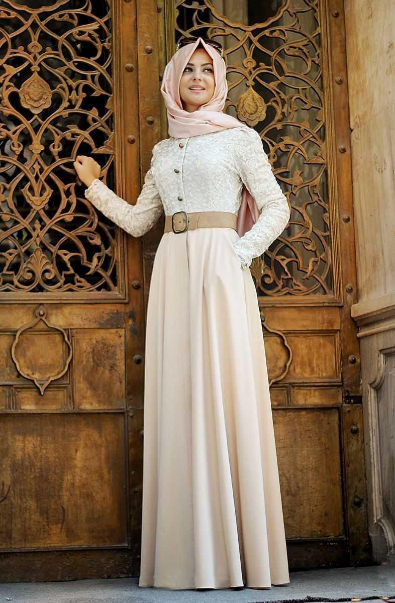 Pınar Şems Cepli Tesettür Elbise Modelleri