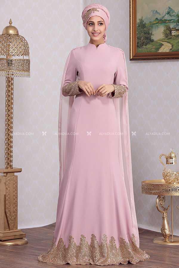 Ranezen Tesettür Kuyruklu Abiye Elbise Modelleri