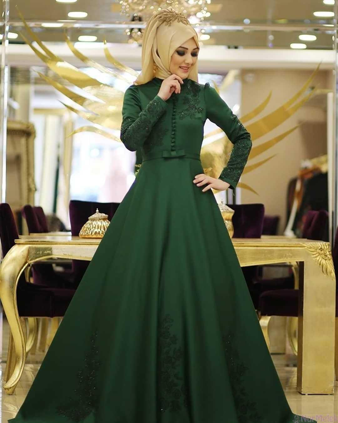 Tesettür Zümrüt Yeşili Modası