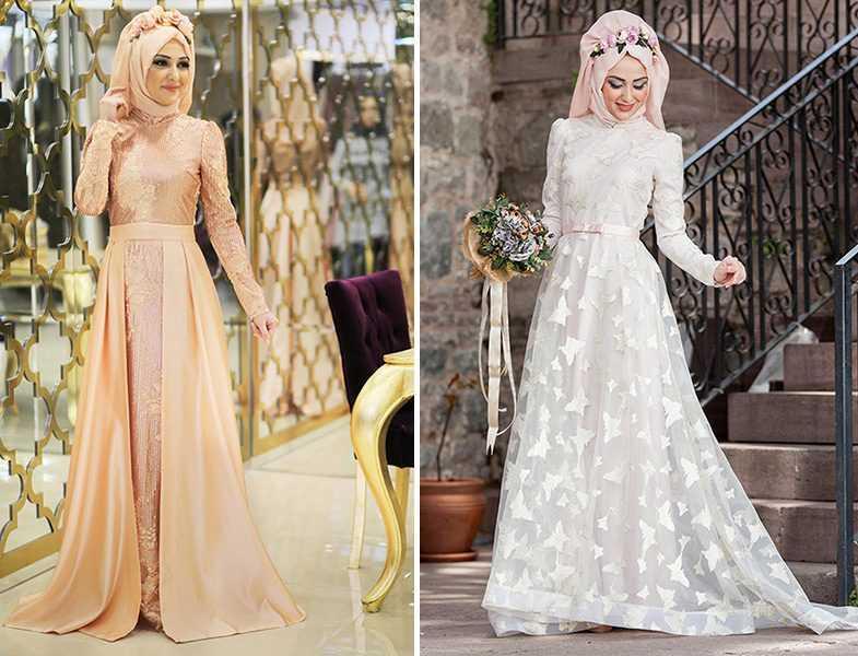 Şık ve Güzel Minel Aşk Tesettür Abiye Elbise Modelleri