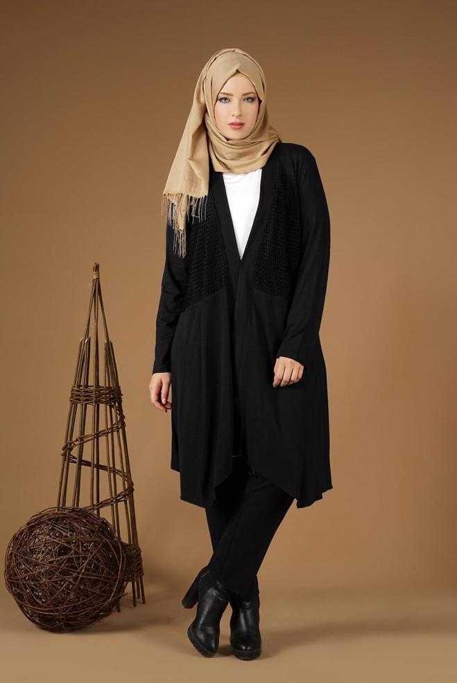 Alvina Tesettür Siyah Renk Kombin Modası