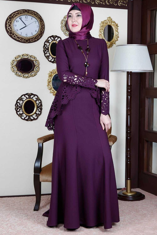 Ayşe Melek Tasarım Lazer Kesim Tesettür Abiye Elbise Modelleri