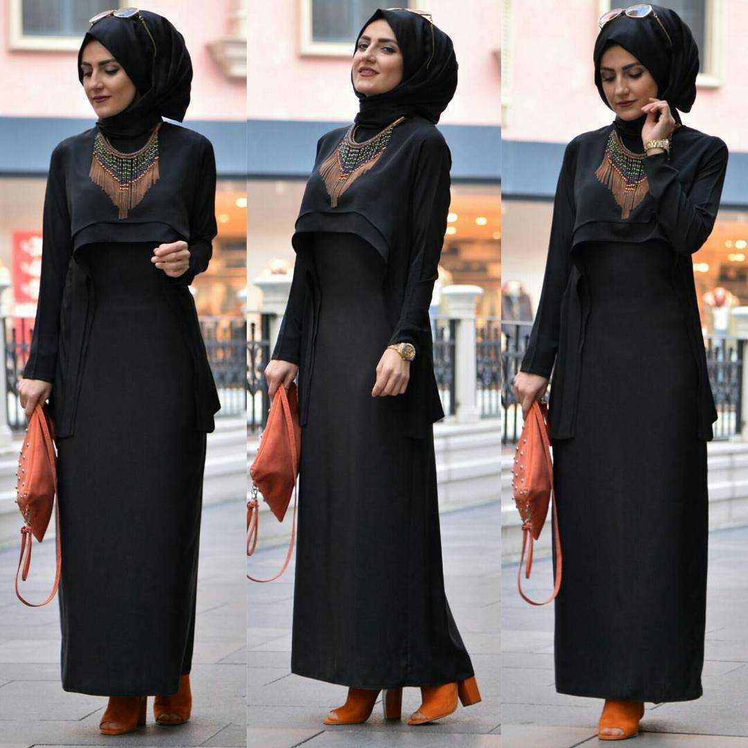 Tesettürde Siyah Renk Modası