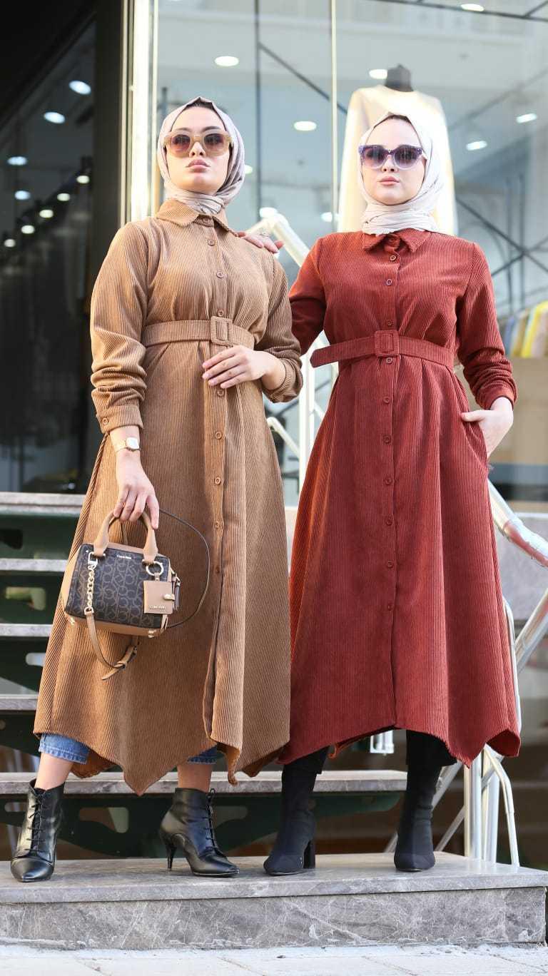 Elifce Butik Tesettür Kadife Tunik Modelleri