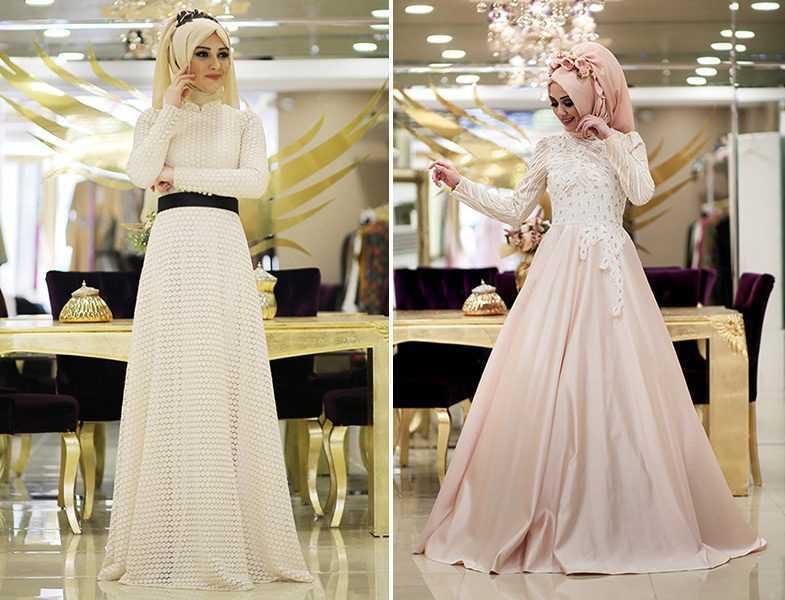 En Özel Minel Aşk Tesettür Abiye Elbise Modelleri