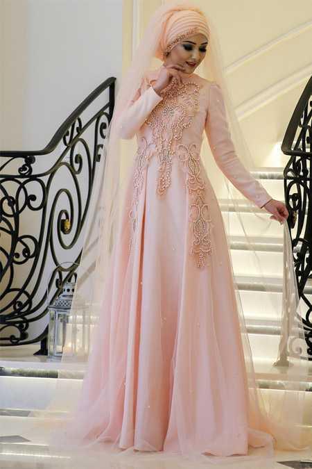 En Güzel Minel Aşk Tesettür Abiye Elbise Modelleri