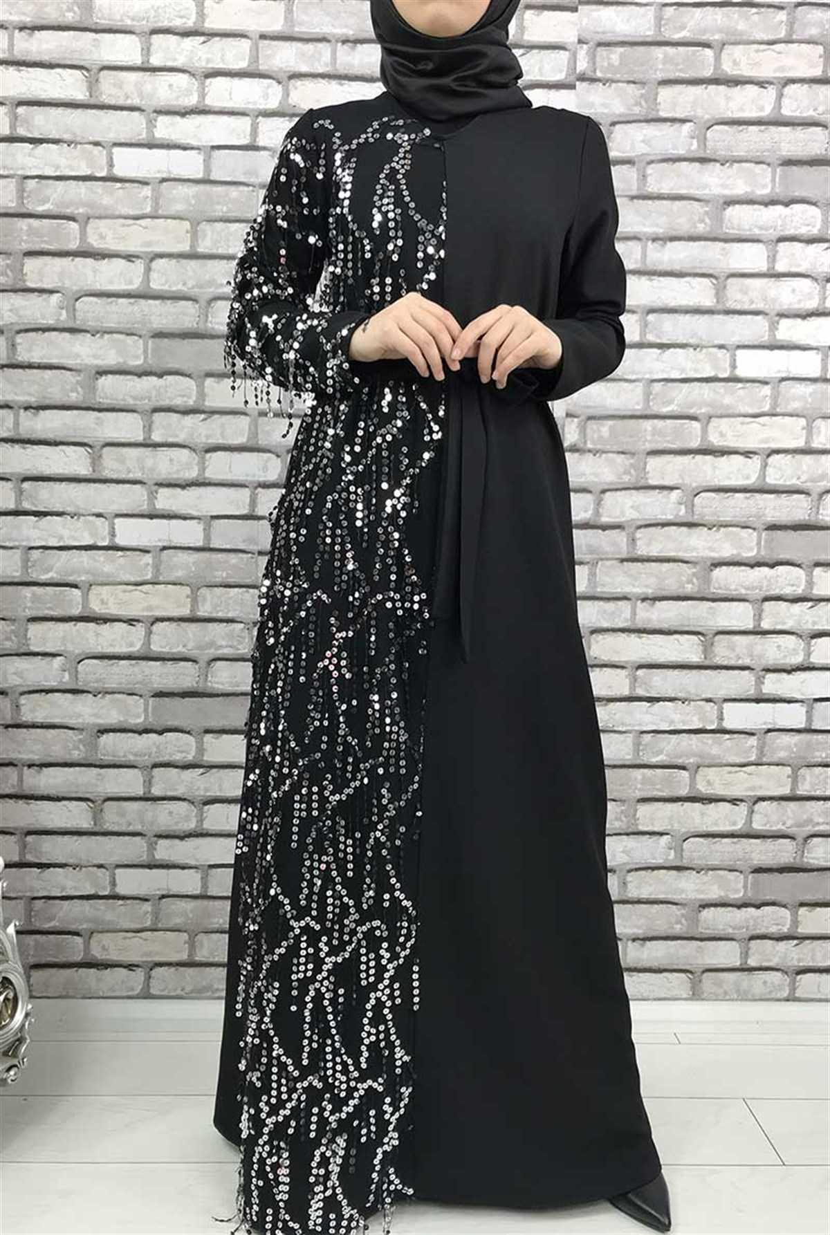 Gizemsmoda Pullu Tesettür Abiye Elbise Modelleri
