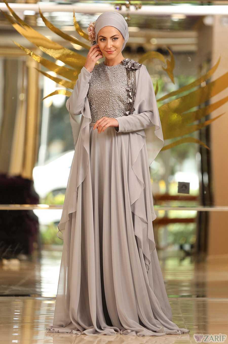 Minel Aşk Şık Tesettür Abiye Elbise Modelleri