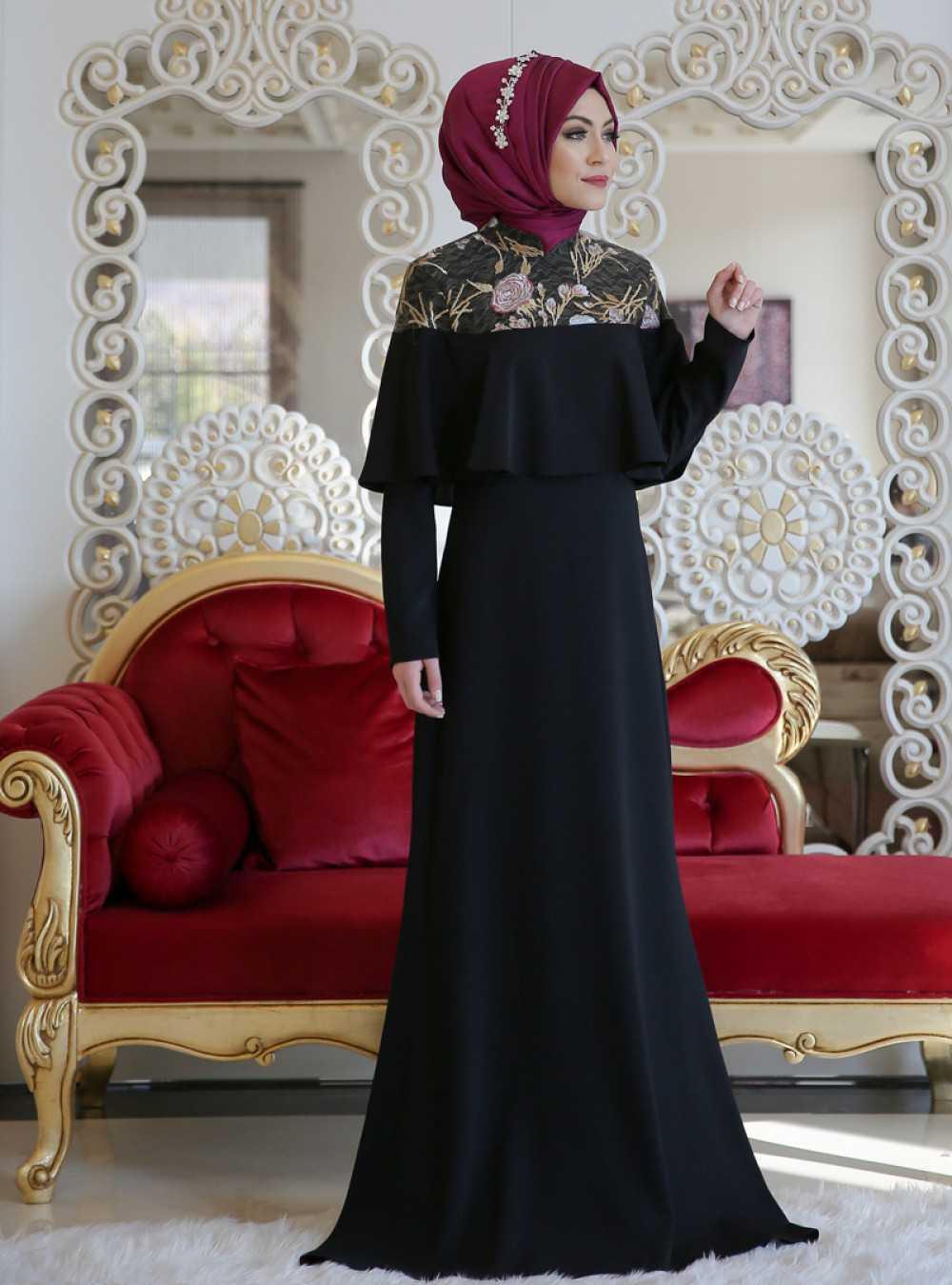 Minel Aşk Rezya Tesettür Abiye Elbise Modelleri