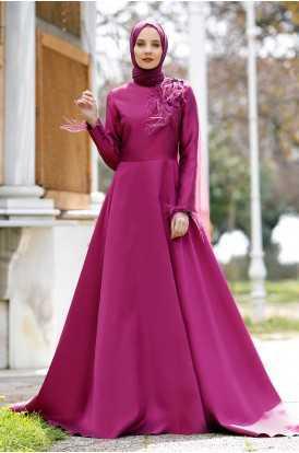 Minel Aşk Tesettür Özel Abiye Elbise Modelleri