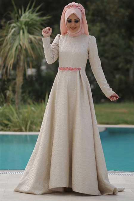 Minel Aşk Tesettür Abiye Elbise Modelleri