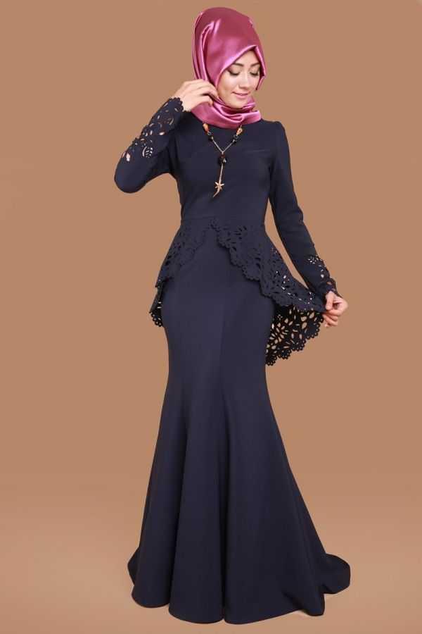 Moda Selvim Lazer Kesim Tesettür Abiye Elbise Modelleri