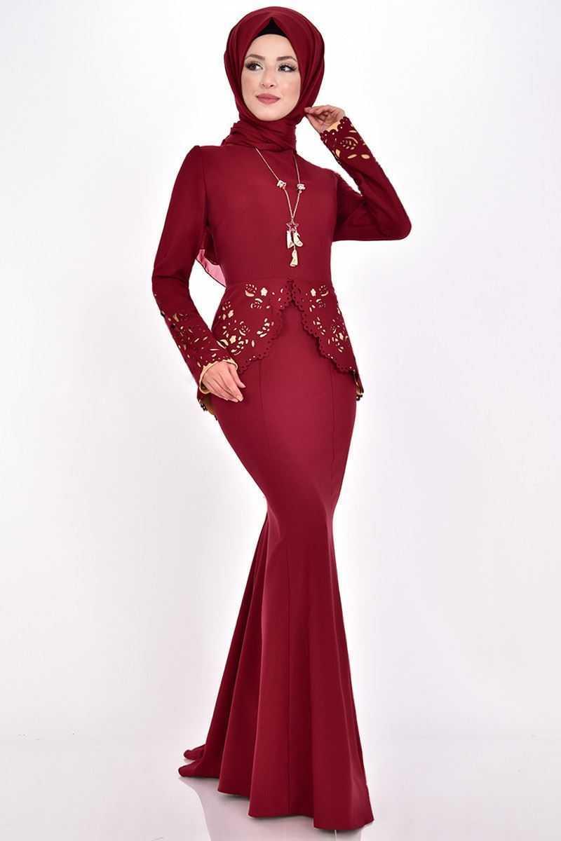 Modamerve Lazer Kesim Tesettür Abiye Elbise Modelleri