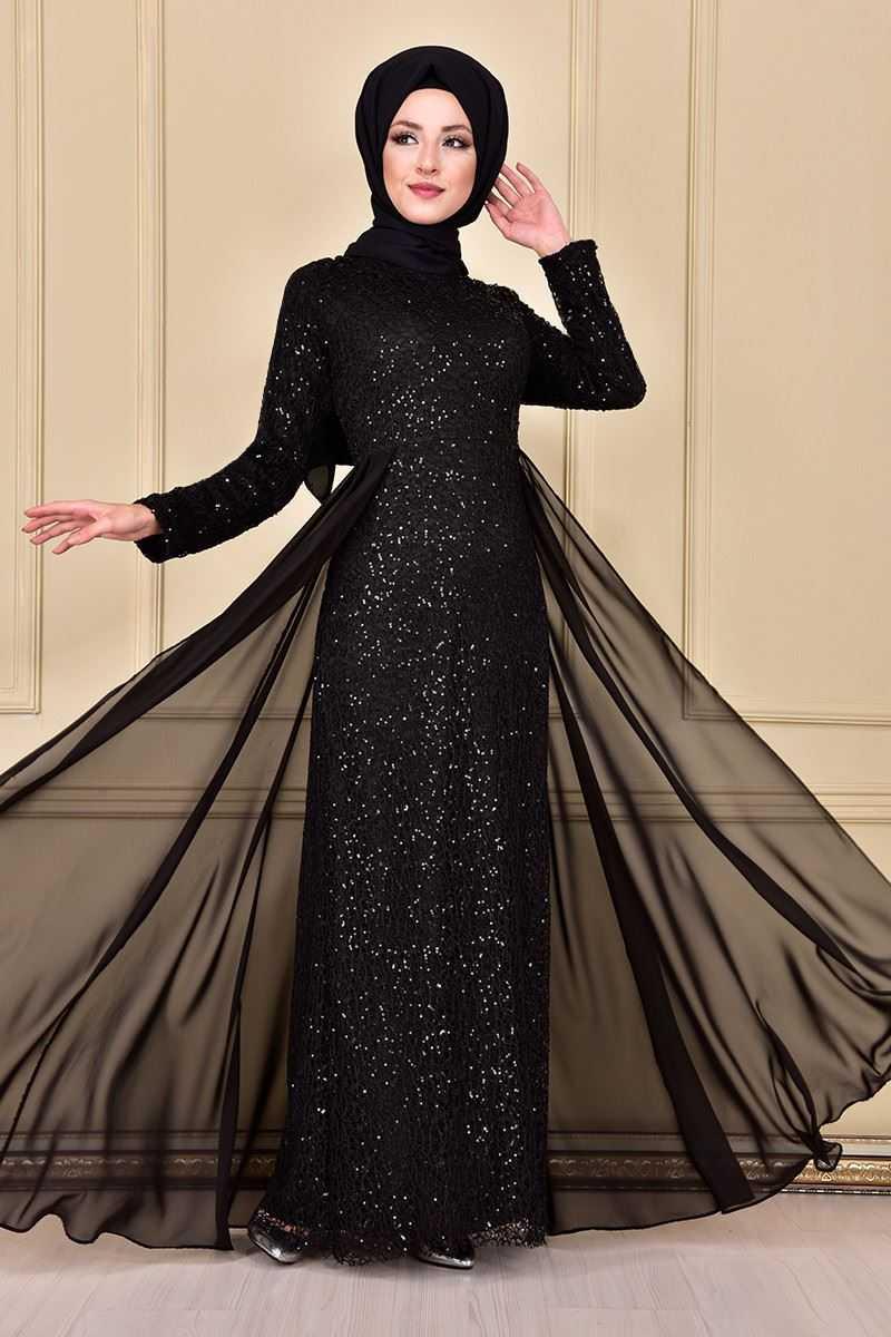 Modamerve Pullu Tesettür Abiye Elbise Modelleri