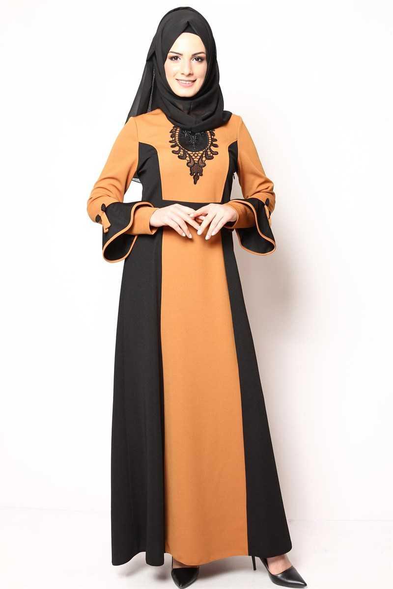 Modamerve Sonbahar Kış Tesettür Elbise Modası