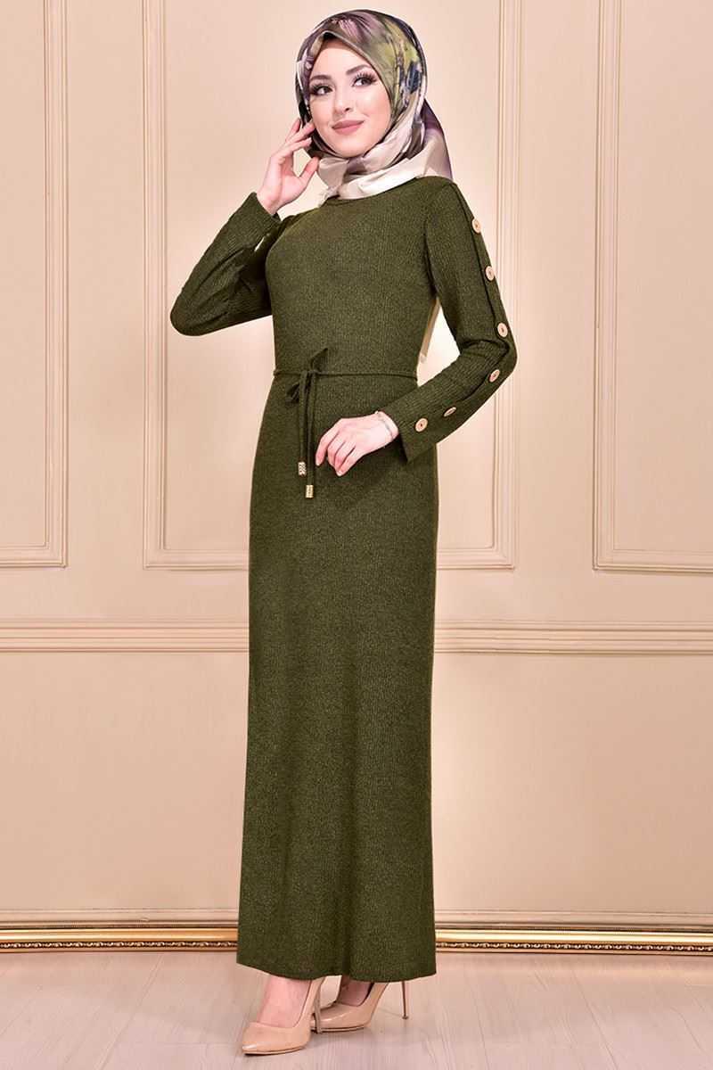 Modamerve Sonbahar Kış Tesettür Elbise Modelleri