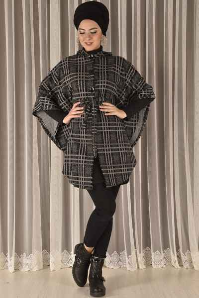 Modamerve Sonbahar Kış Tesettür Panço Modası