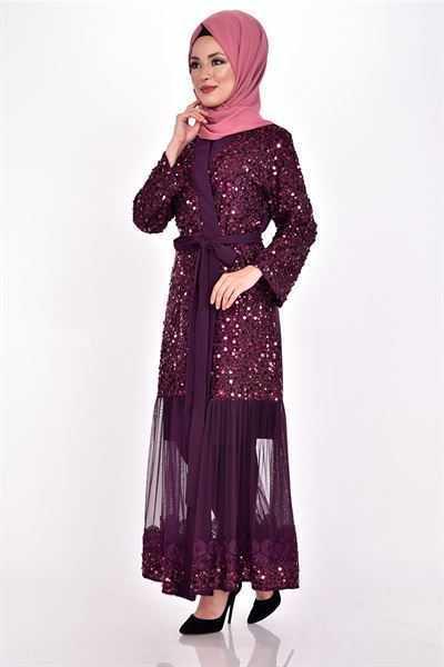Modamerve Tesettür Pullu Abaya Modelleri