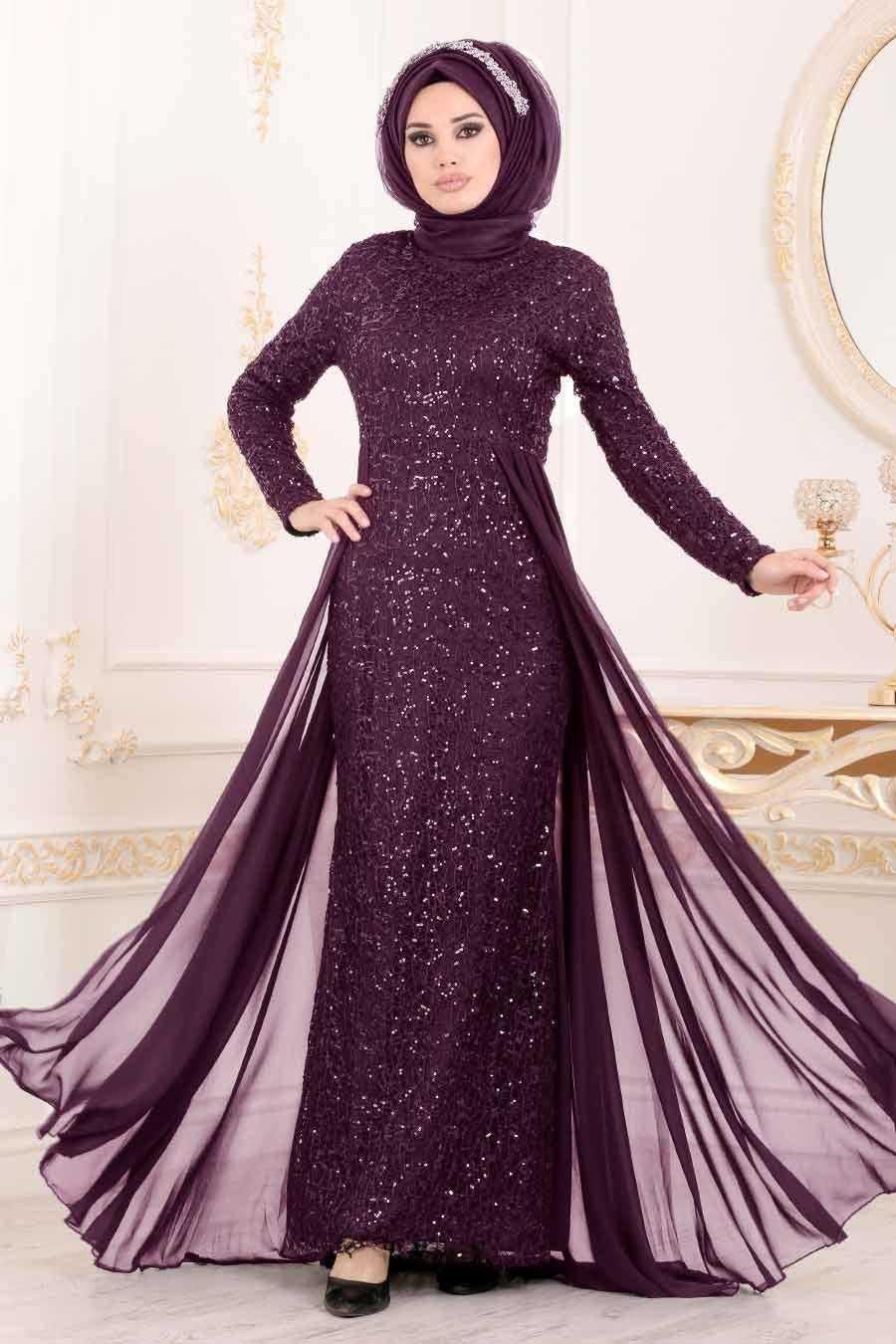 Nayla Collection Pullu Tesettür Abiye Elbise Modelleri