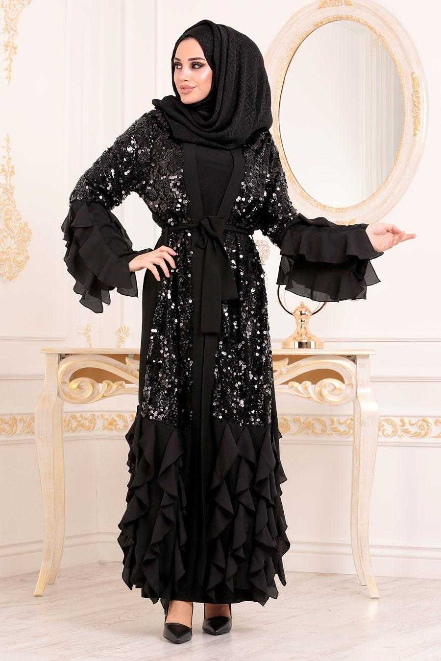 Nayla Collection Tesettür Pullu Abaya Modelleri