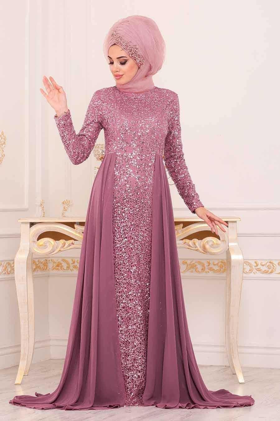 Neva Style Pullu Tesettür Abiye Elbise Modelleri