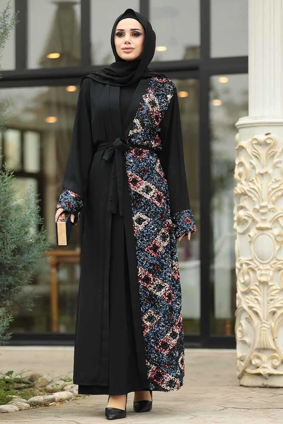 Neva Style Tesettür Pullu Abaya Modelleri