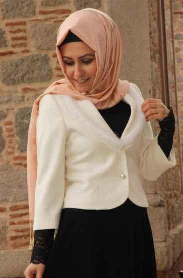 Pınar Şems Tesettür Kısa Ceket Modelleri