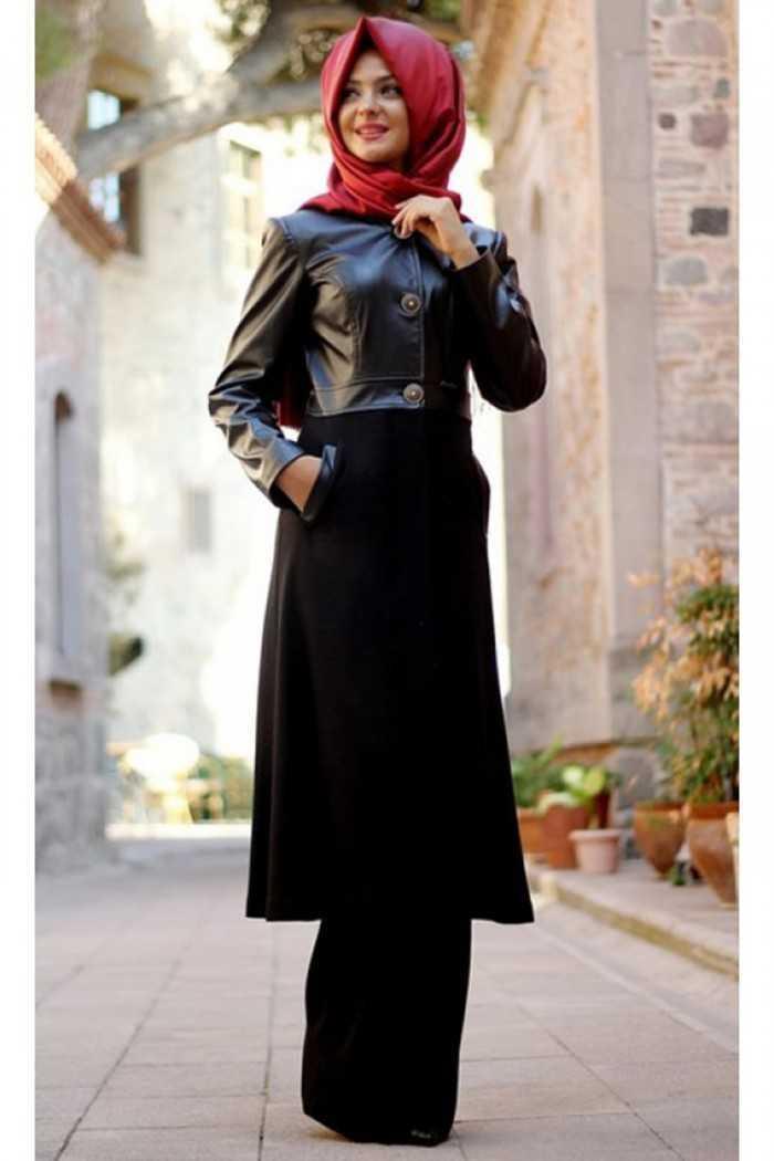 Pınar Şems Tesettür Siyah Renk Kombin Modası