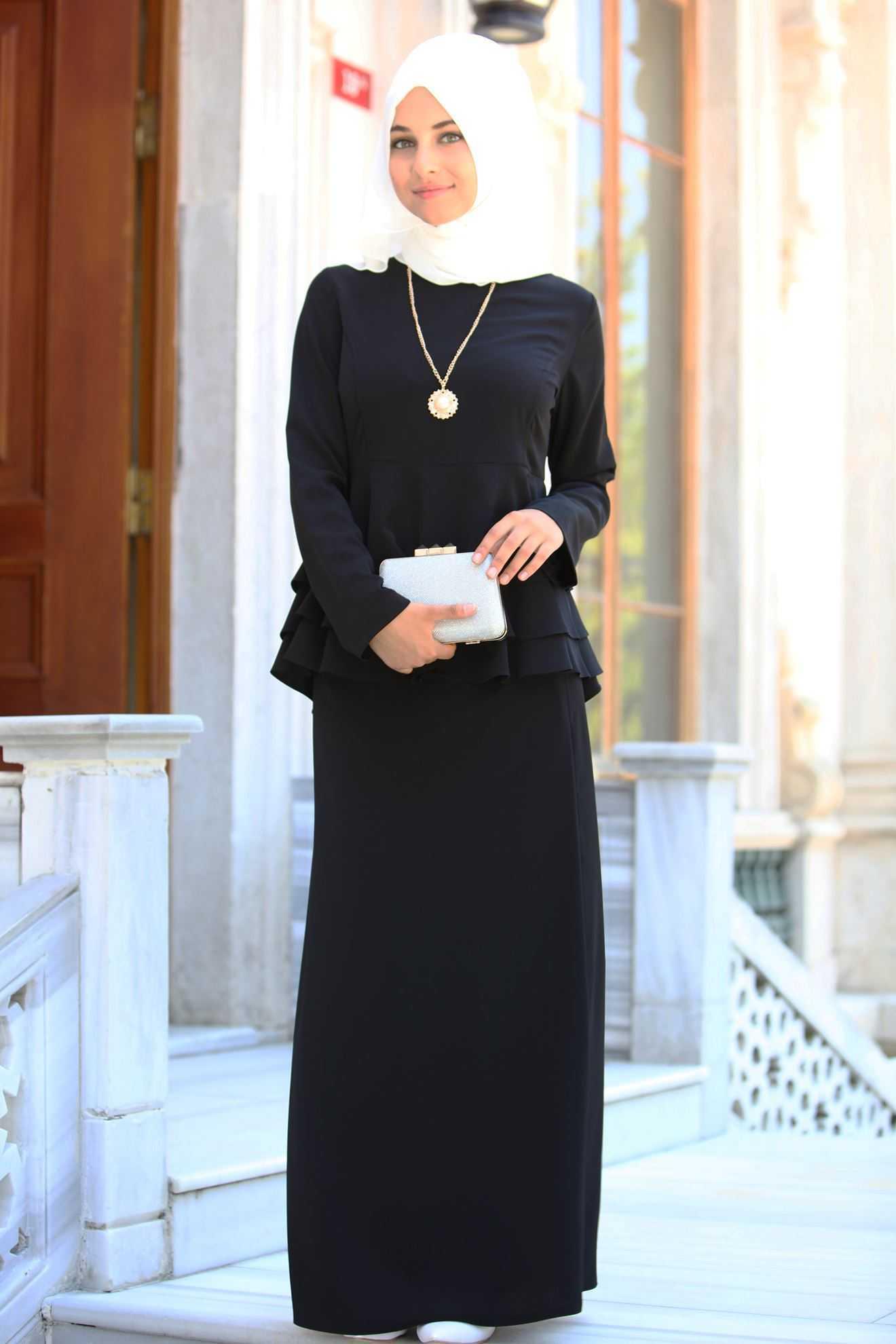 Sedanur Tesettür Siyah Renk Takım Modası