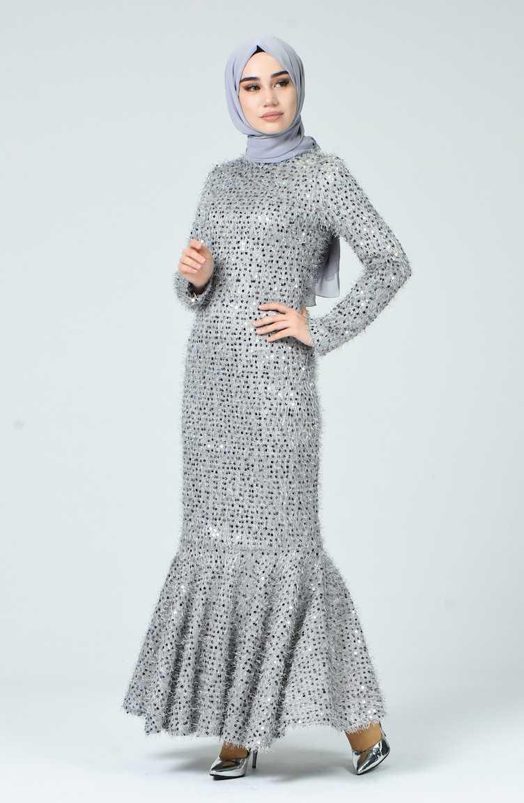 Sefamerve Pullu Tesettür Abiye Elbise Modelleri