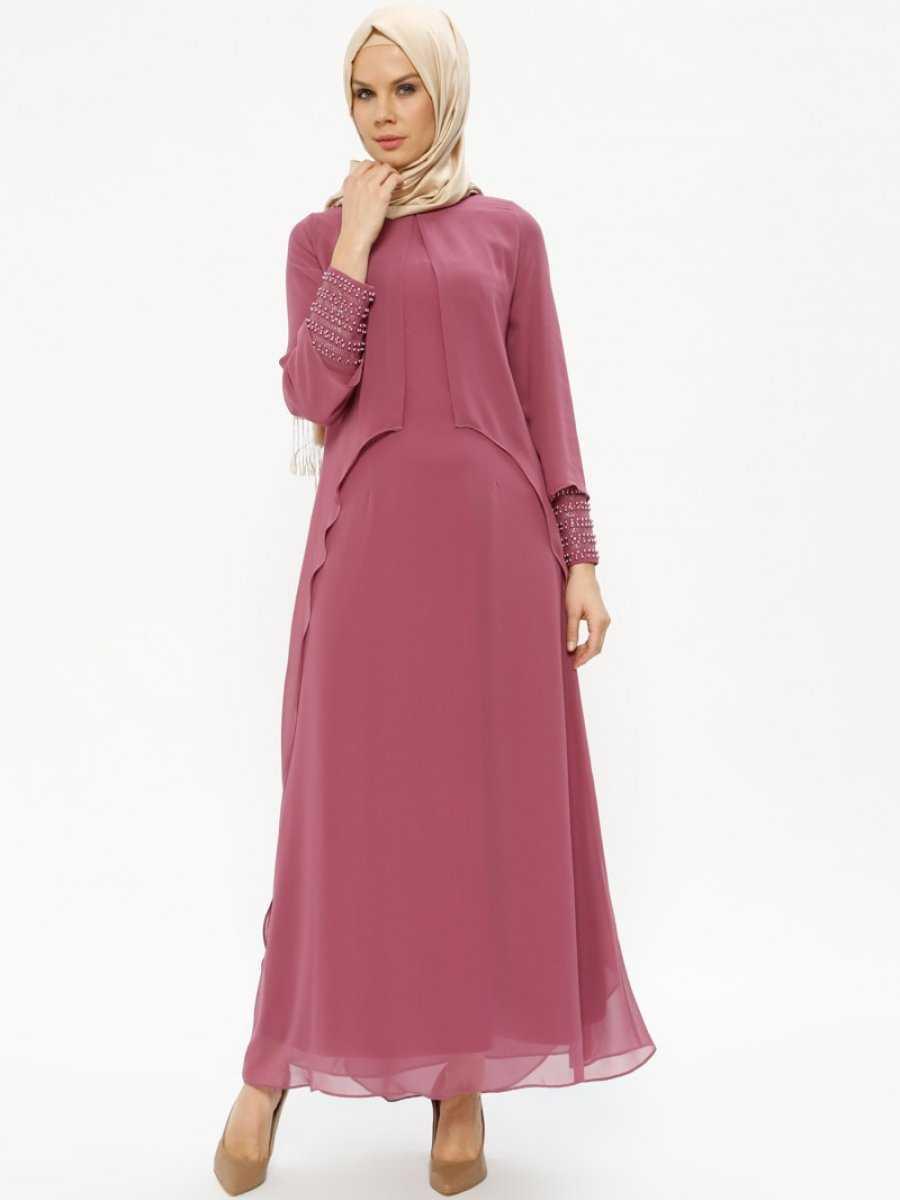 Sevilay Giyim Tesettür Şifon Abiye Elbise Modelleri