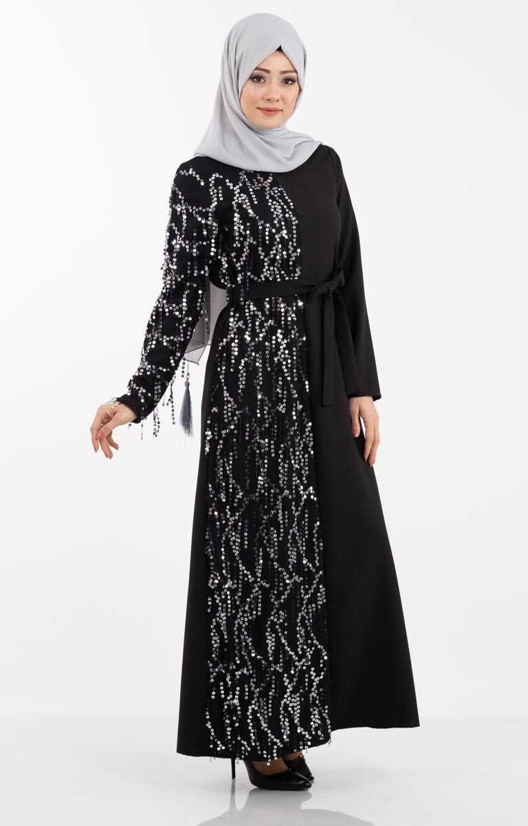 Tesettür Pazarı Pullu Abaya Modelleri