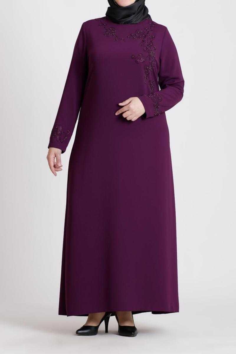 Eslina Moda Büyük Beden Tesettür Elbise Modelleri