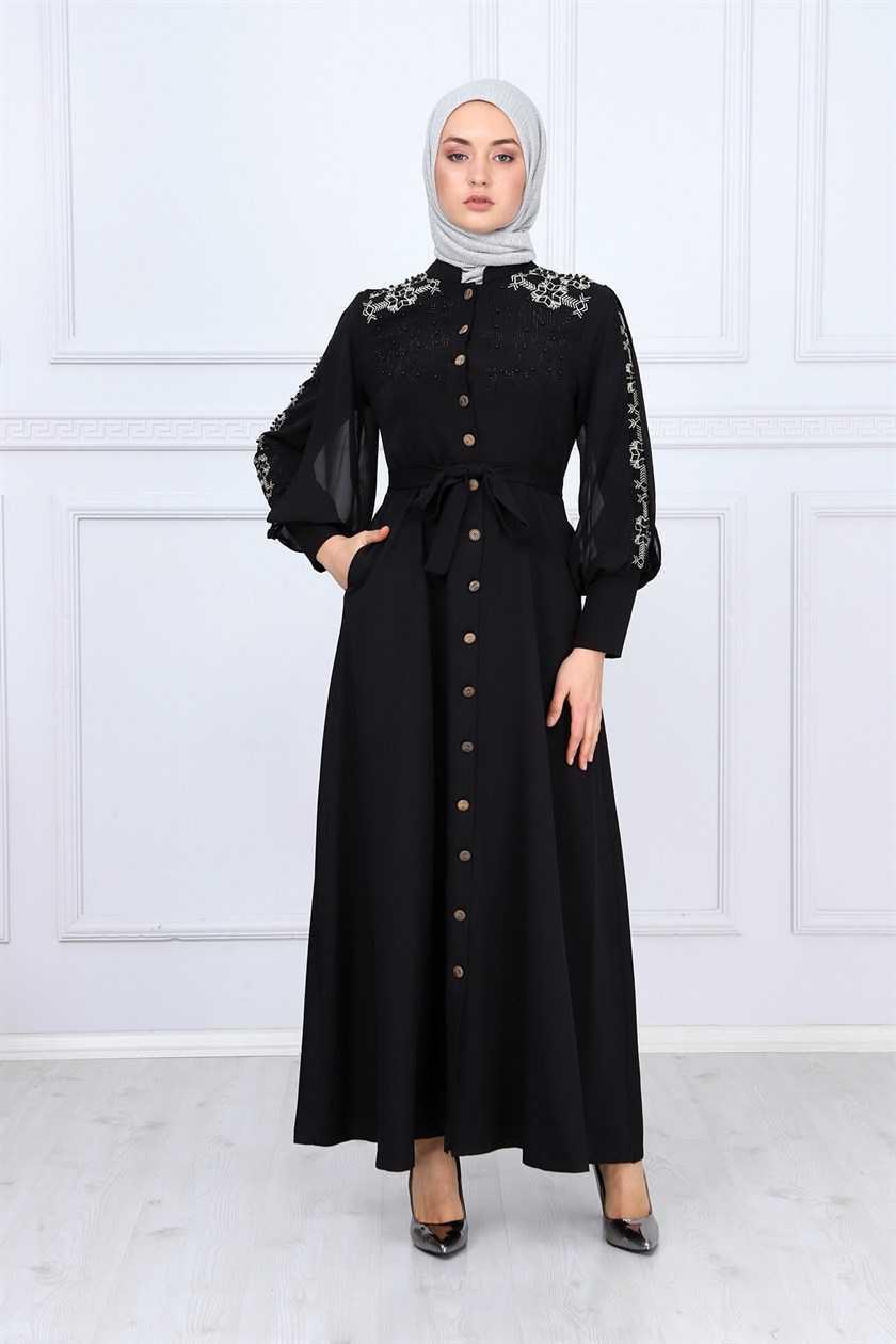 Missvalle Tesettür Boncuklu Elbise Modelleri