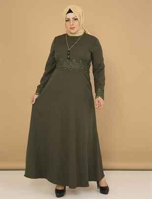 Moda Mihram Büyük Beden Tesettür Elbise Modelleri