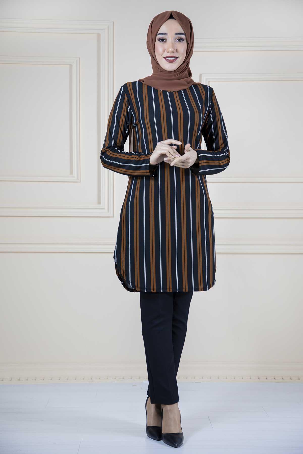 Moda Noiva Tesettür Krep Tunik Modelleri