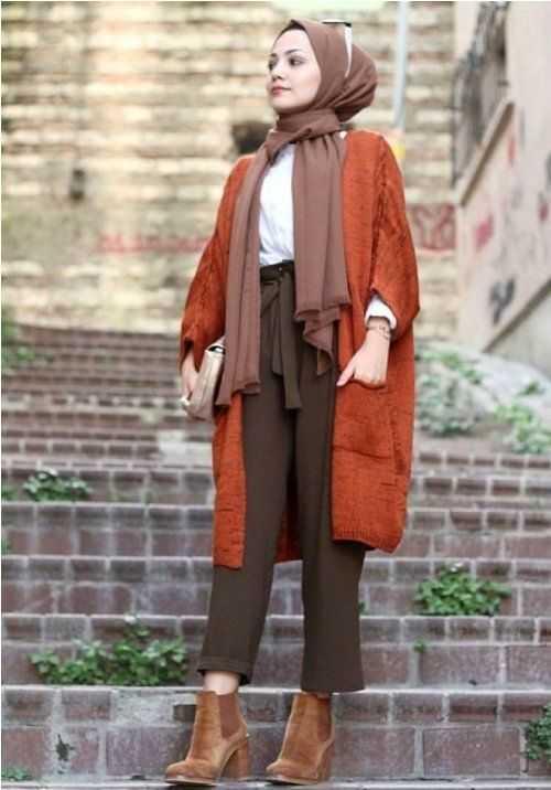 Modern Kışlık Genç Tesettür Kıyafet Modelleri