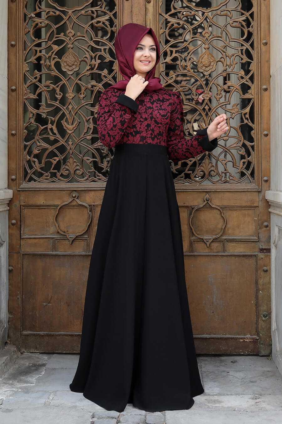 Pınar Şems Tesettür Krep Elbise Modelleri