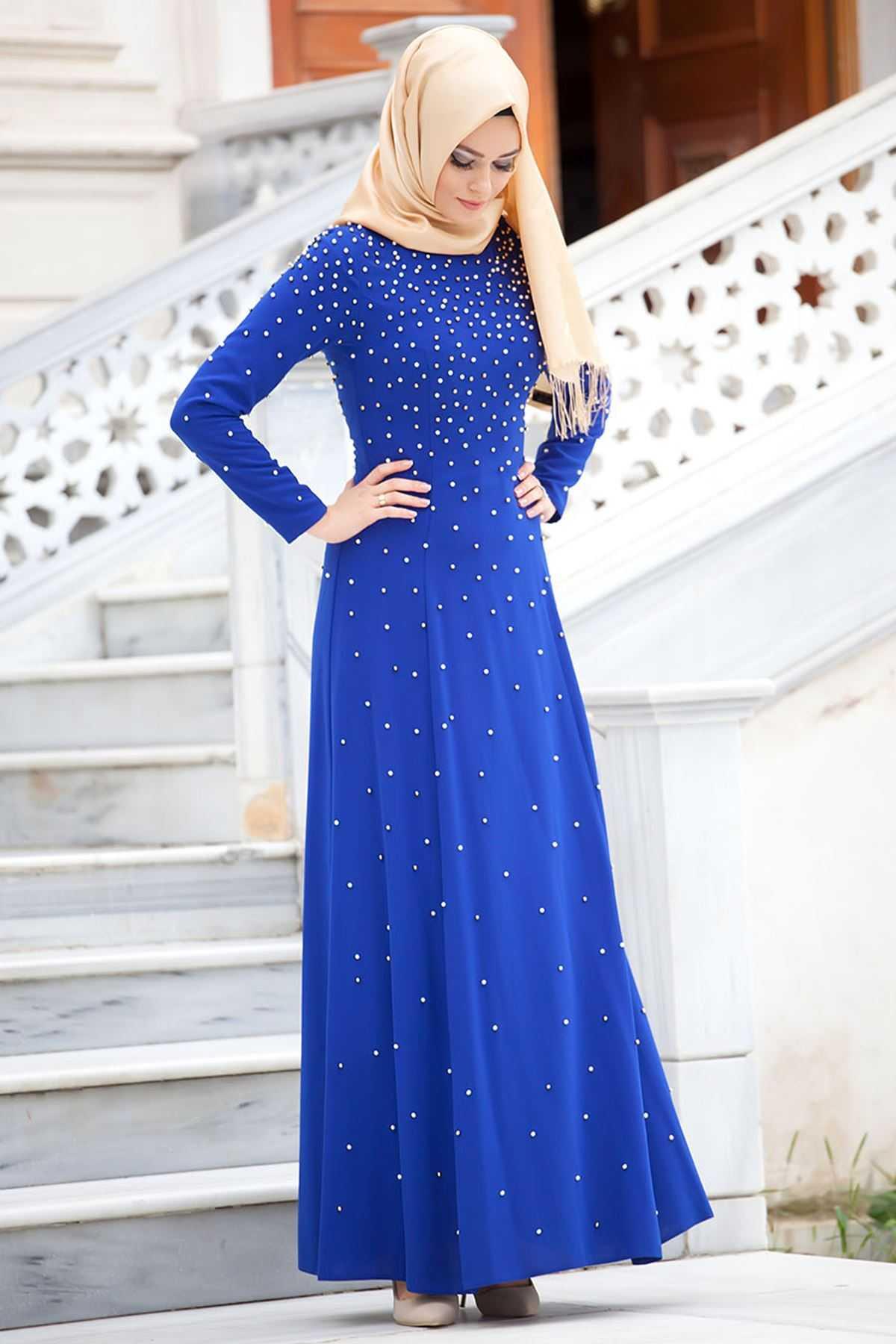 Sedanur Collection Tesettür Boncuklu Elbise Modelleri