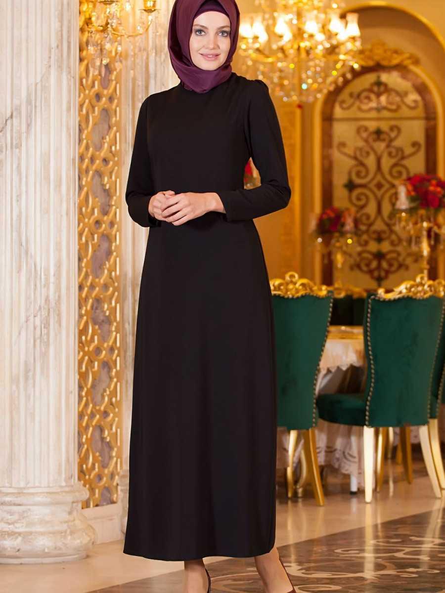 Sedanur Tesettür Krep Elbise Modelleri